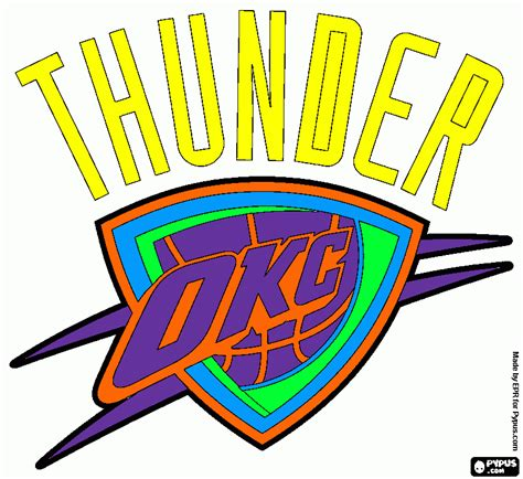 free coloring pages of oklahoma thunder