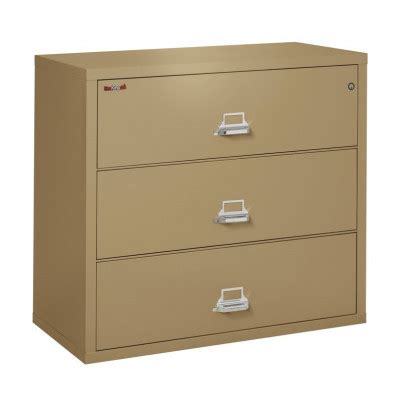 Fireproof Filing Cabinet 744a 1 fireking 3 drawer 44 quot wide 1 hour lateral fireproof file cabinet