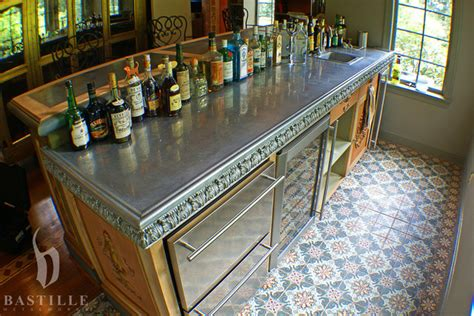 pewter bar tops cast pewter countertop lancaster kitchen countertops