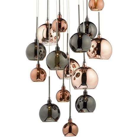 cluster pendant lights bedroom:  light bronze copper cluster pendant ceiling light from lights