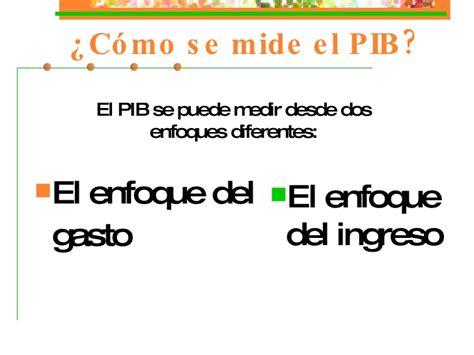 como se mide el pib como se mide el pib