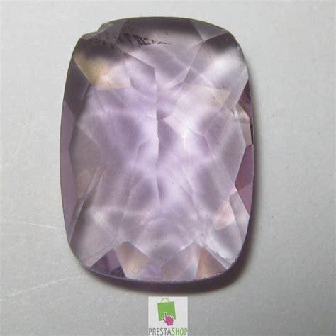 Kecubung Kalimantan Ungu Luster 850 batu permata amethyst purple cushion cut 4 90 carat