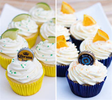 beer cupcakes corona and blue moon cupcakes for the superbowl