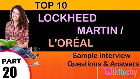 Lockheed Martin Corporation Mba Intern by Lockheed Martin L Or 233 Al Top Most Questions And
