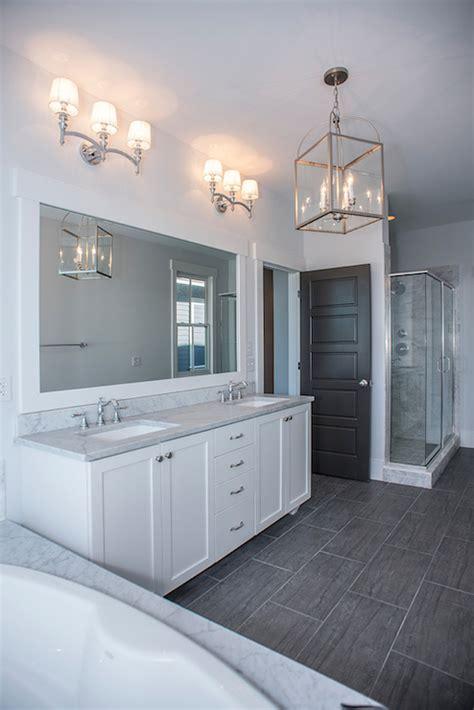 grey wood tile bathroom wood like tile transitional bathroom modern organic