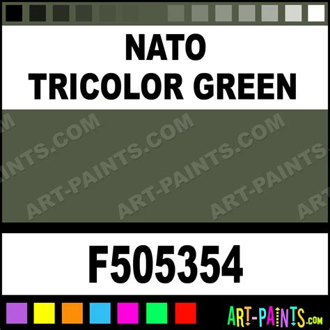 nato tricolor green model acrylic paints f505354 nato tricolor green paint nato