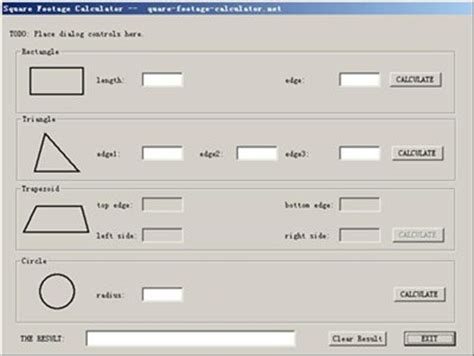 square feet calc square footage calculator 1 0 download freeware