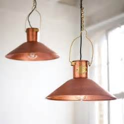 copper pendant light by country lighting notonthehighstreet com