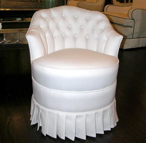 vanity stool with skirt white cotton upholstered vanity chair with pleated skirt