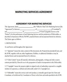 7 marketing agreements free sle exle format