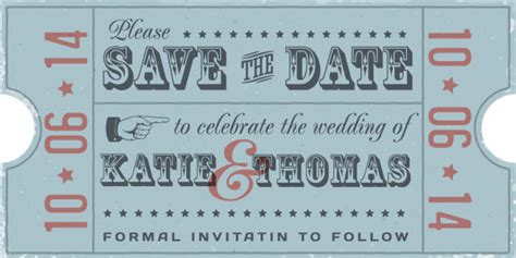 personalised retro vintage rustic save the date pencil us in