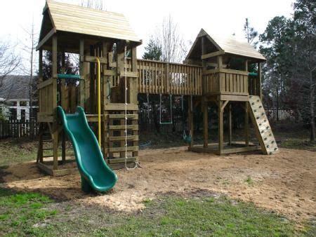 backyard playground blueprints playset fort plans home gt gt walkway bridge swing set