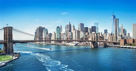 Manhattan Wall Mural new york brooklyn bridge skyline wall mural new york