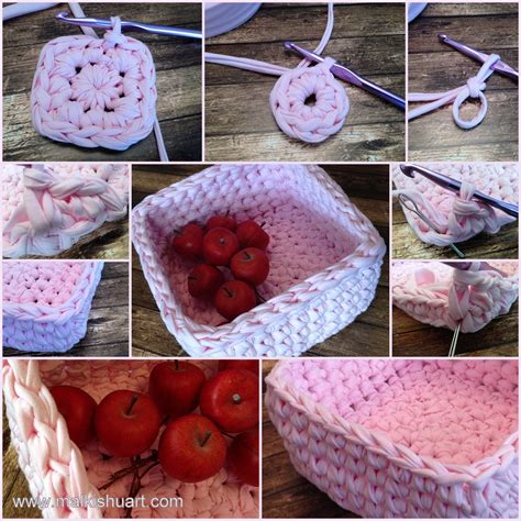 Deko Ideen Ostern 5989 by Square Basket Tutorial T Shirt Yarn How To Crochet A