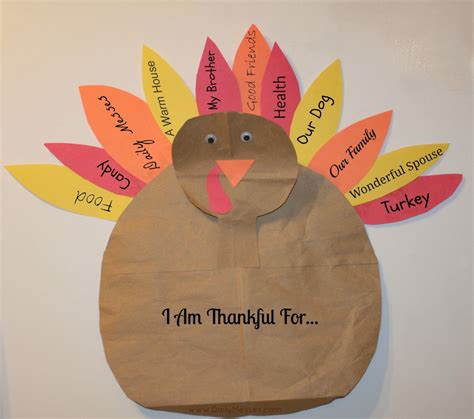 Turkey Construction Paper Craft - 20 and crafty paper bag turkey projects guide patterns