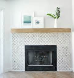 tiled fireplace surround diy fireplace makeover centsational