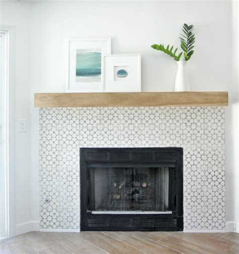 tile fireplace makeover diy fireplace makeover centsational