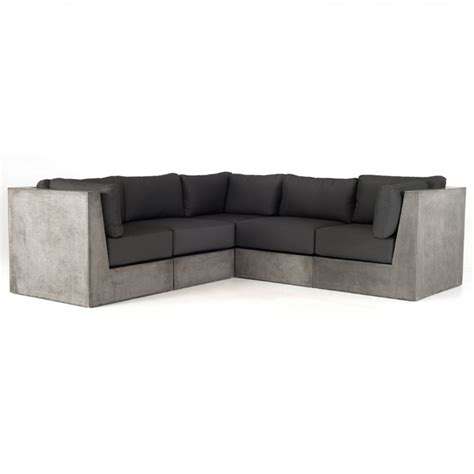 contemporary sofa sectional modrest indigo contemporary grey concrete sectional sofa