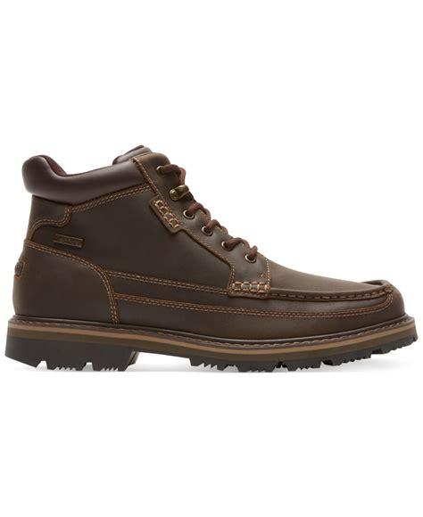 rockport boot for rockport gentleman s waterproof moc toe mid boots in brown