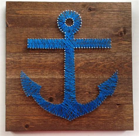 String Anchor - anchor string on 17 5 quot x 17 5 quot stained wood