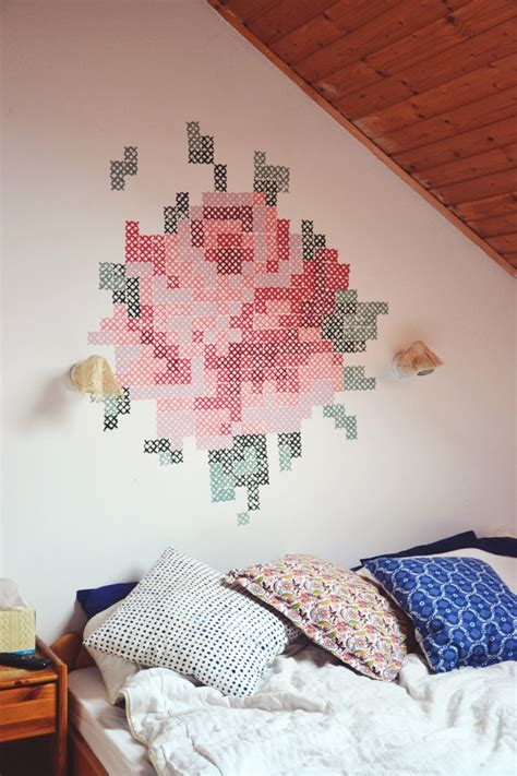easy wall mural 9 adorable and easy to make diy wall murals shelterness