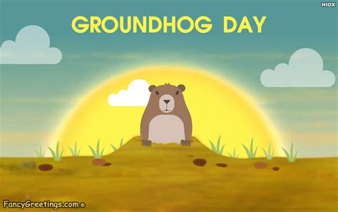 groundhog day and happy day happy groundhog day ecard greeting card fancygreetings