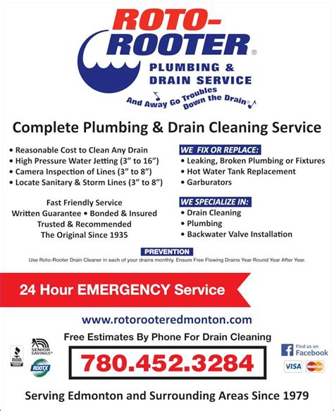 roto rooter plumbing drain service opening hours