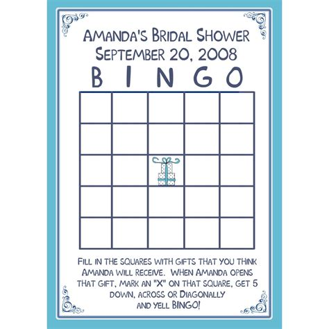 bridal shower bingo template 24 bridal shower bingo card personalized