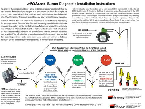 burner wiring diagram envirospec