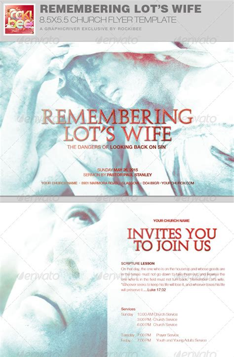 Remembering Lot S Wife Church Flyer Invite Templat Graphicriver Graphicriver Iii Flyer Template