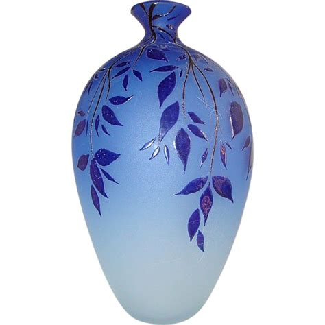Blue Murano Glass Vase by Blue Murano Glass Vase Made By Canal From Chateau On Ruby