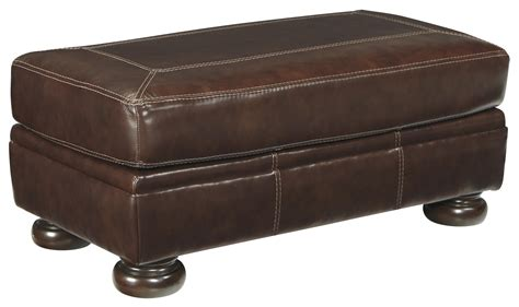 ashley furniture ottomans signature design by ashley banner rectangular leather