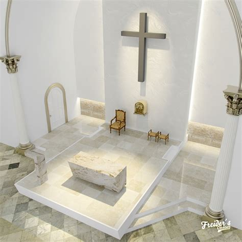 Interior Design Jobs Dc Dise 241 O Interior Y Render De Altar Para Iglesia Catolica On