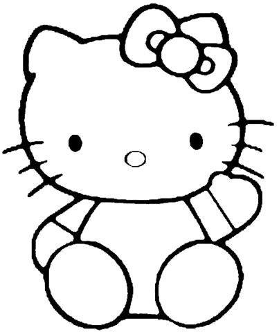 hello kitty coloring page supercoloring com
