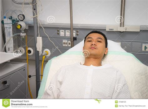 guy in hospital bed man in hospital bed stock photo image 47588123