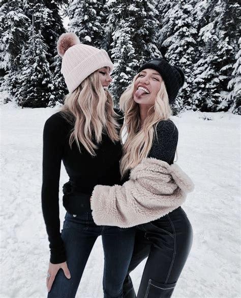 girls winter snow christmas vsco photoshoot snow