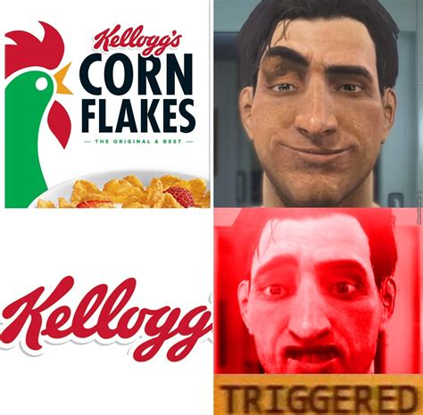 Corn Flakes Meme - tmw the descendants of your favourite cereal brand kidnaps