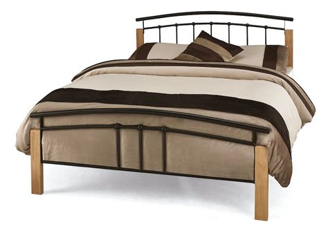 Contemporary Bed Frames Uk Contemporary Wood And Metal Bed Frame 4 Colour Options Available Ebay