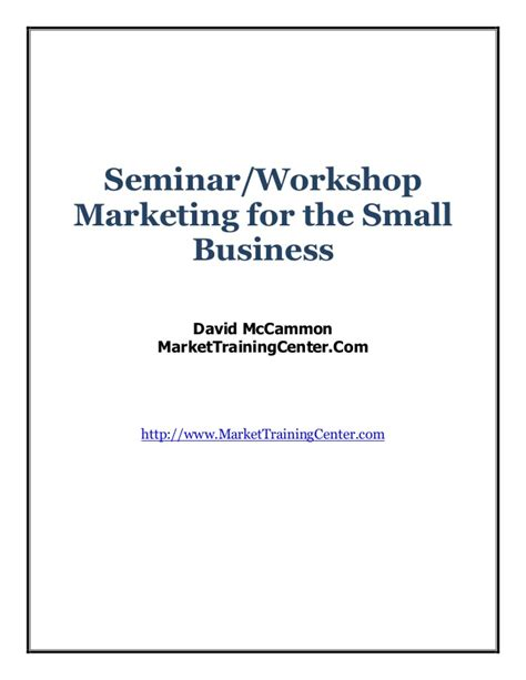 Marketing Seminar Topics Mba by Seminar Marketing Reportx