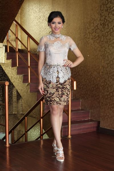 gallery for kebaya modern lengan pendek model baju brokat modern related keywords model baju
