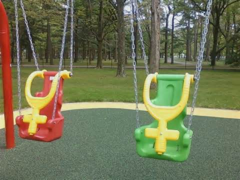 swings for disabled new section of eisenhower park in east meadow long island