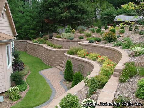 backyard landscaping plans agape retaining walls inc terrace photo album 2