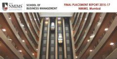 Nmims Mba Tech Placements 2015 by Nmims Sbm Mumbai Placement Report 2017