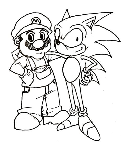 sonic and mario coloring pages mario bros games mario