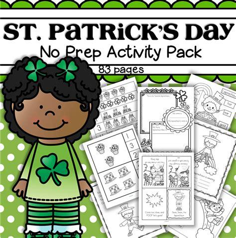kindergarten activities st patrick s day st patrick s day printable activities no prep preschool