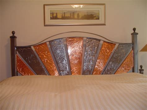 Sheet Metal Headboard by Copper And Steel Headboard With Matching Nightstand