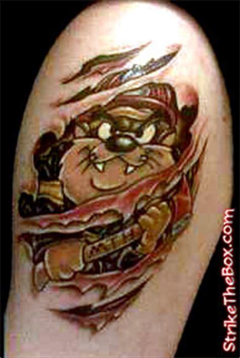 tasmanian devil firefighter tattoo