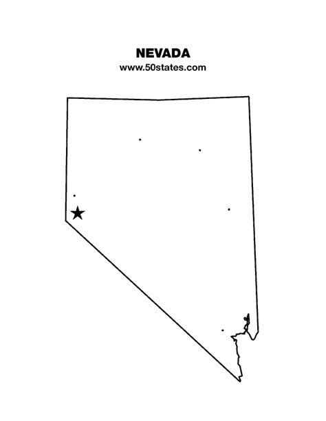 nevada map coloring page nevada map