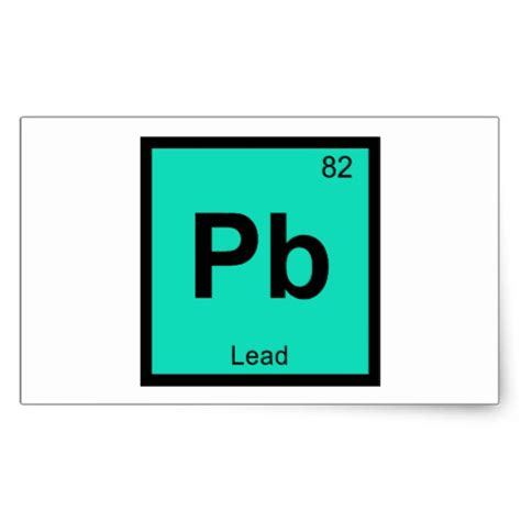 Pb Element Periodic Table pb lead chemistry periodic table symbol element sticker