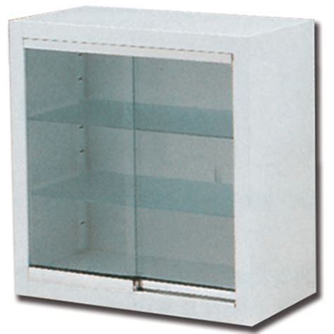 armadio pensile armadio pensile a muro in acciaio e vetro 2 ripiani 2